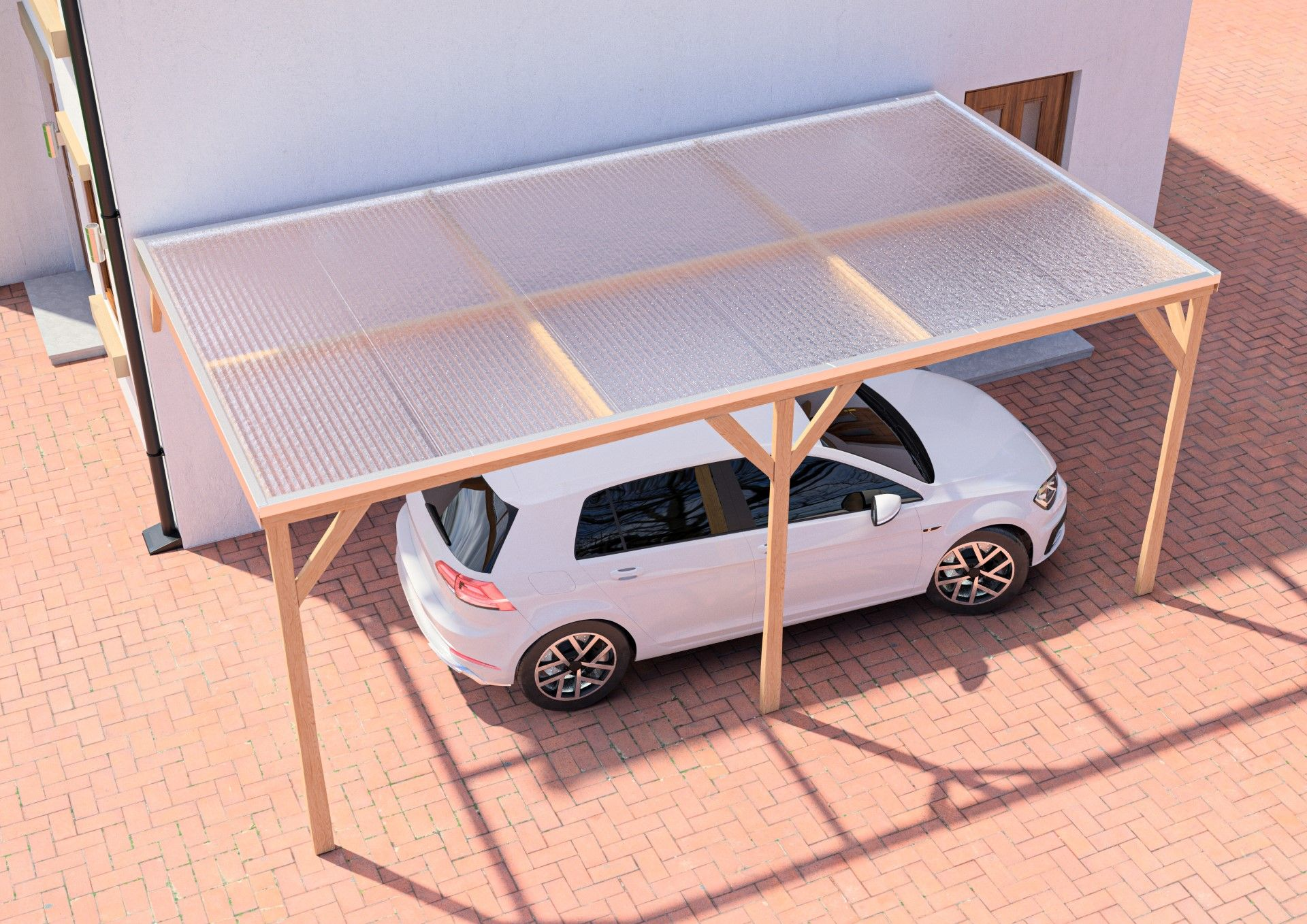 Simple carport roof in 2020 Polycarbonate roof panels