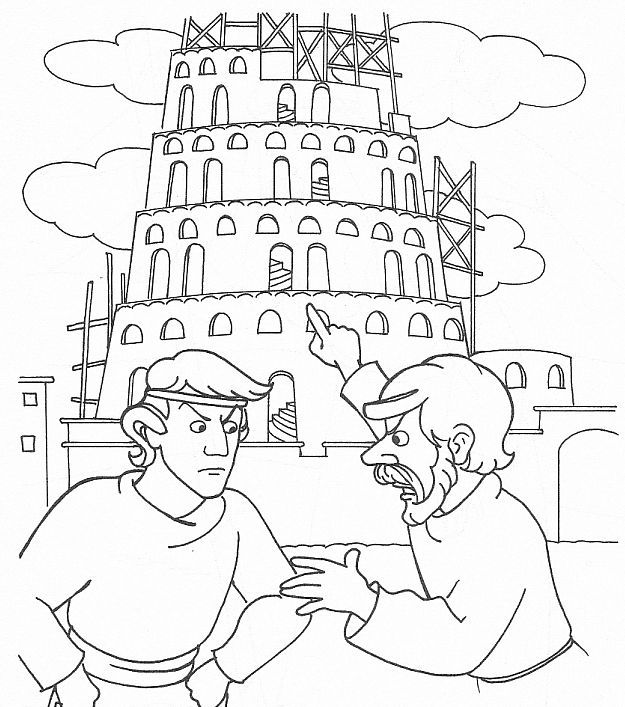 Tower of babel coloring sheet