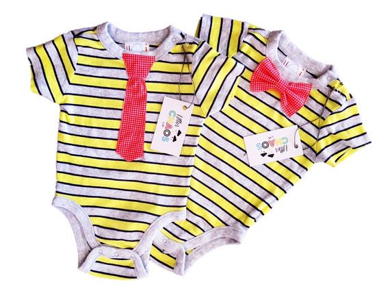 Baby Boy, Onesie with Bow Tie OR Tie