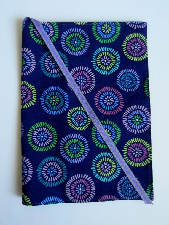 Purple Fabric Journal Composition Notebook Cover by ChasingThreadz, $12.00