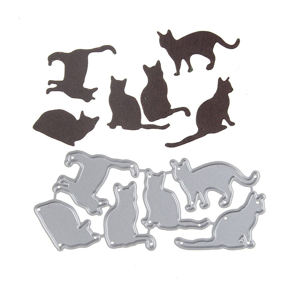 6pcs cat metal cutting dies stencil scrapbook paper cards craft embossing Nice*