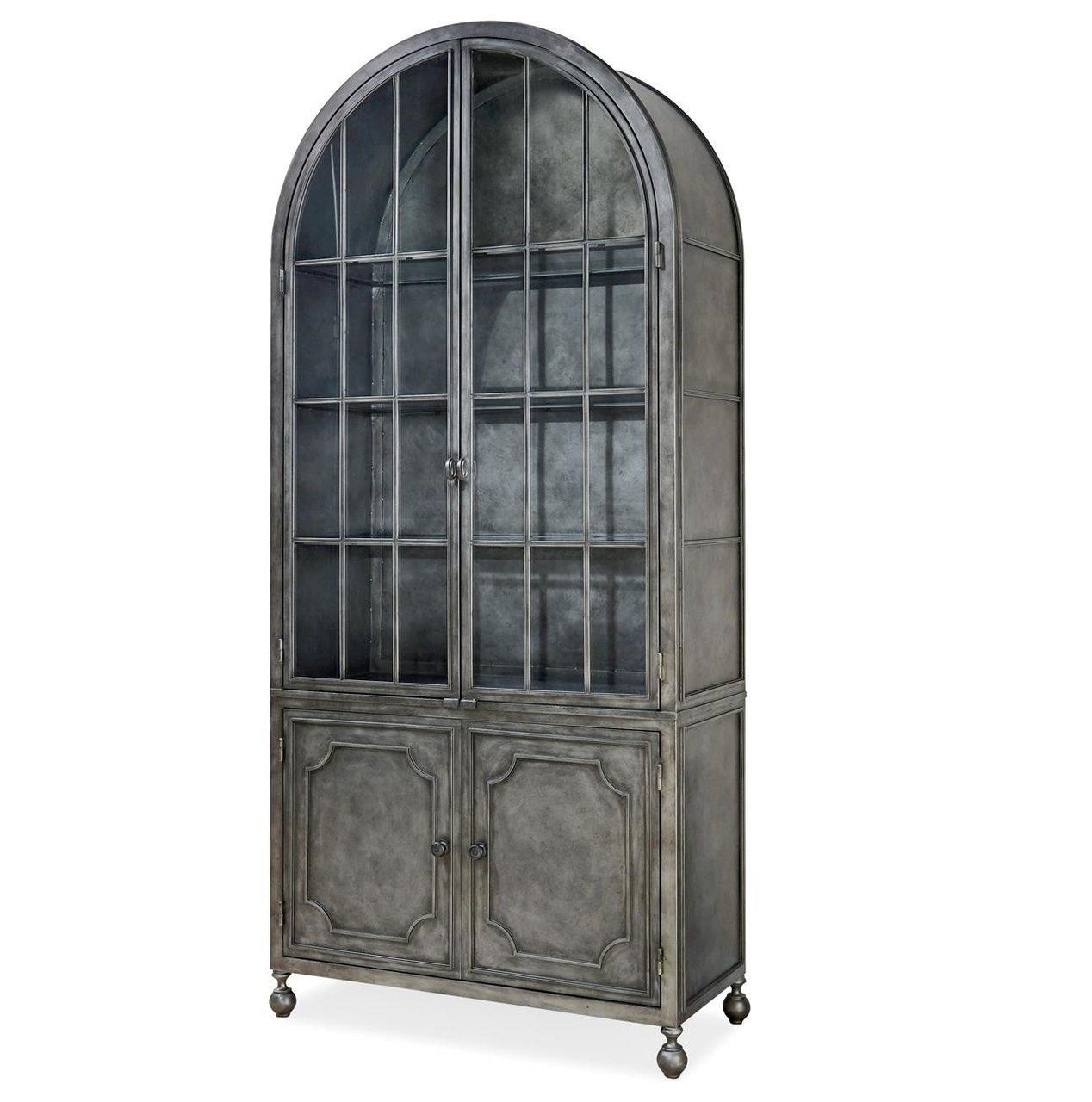 Maison French Industrial Metal Curio Display Cabinet Display Cabinet China Cabinet Corner China Cabinets