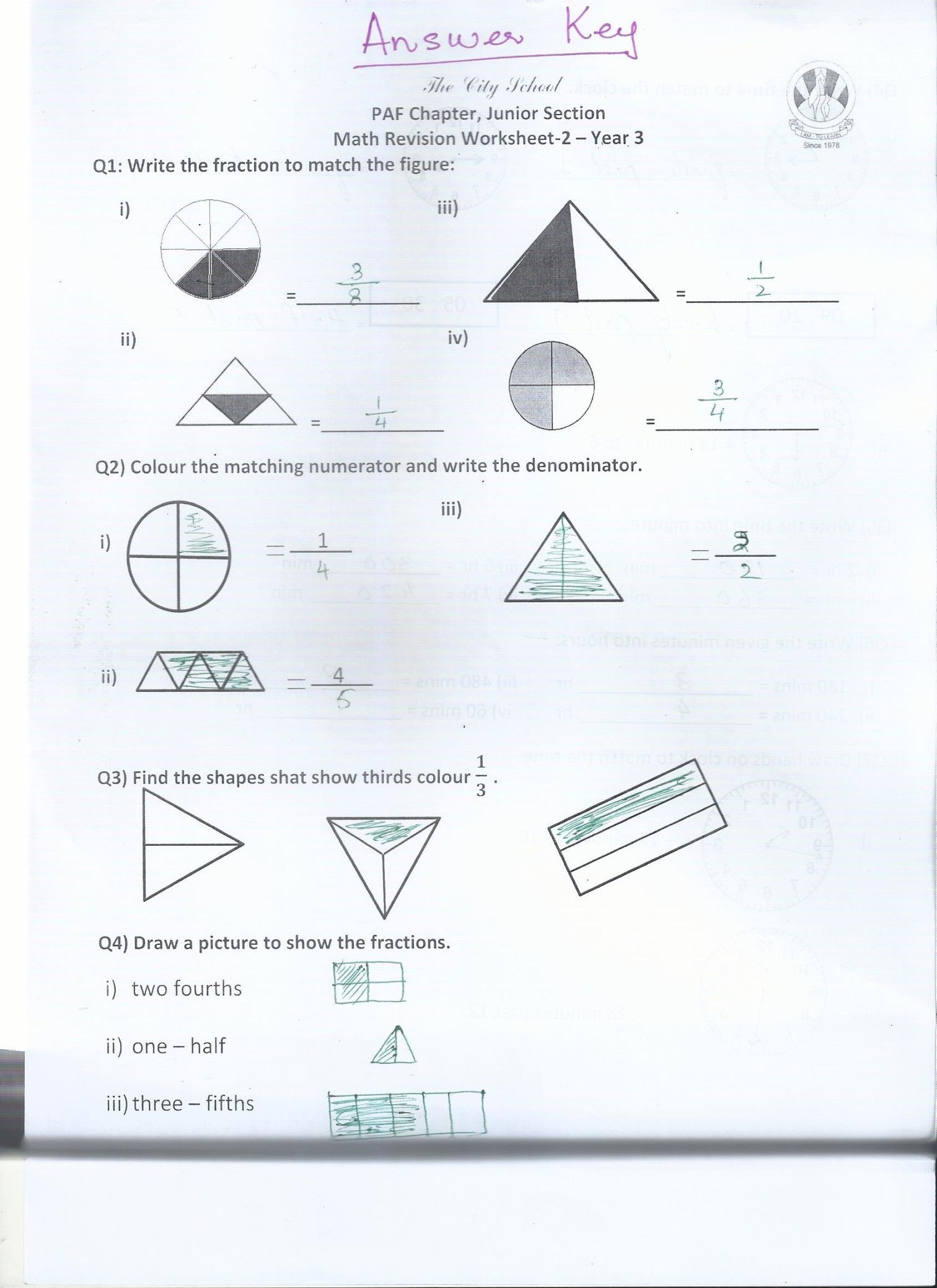 Class 3 Home Work Worksheets Paf Juniors In
