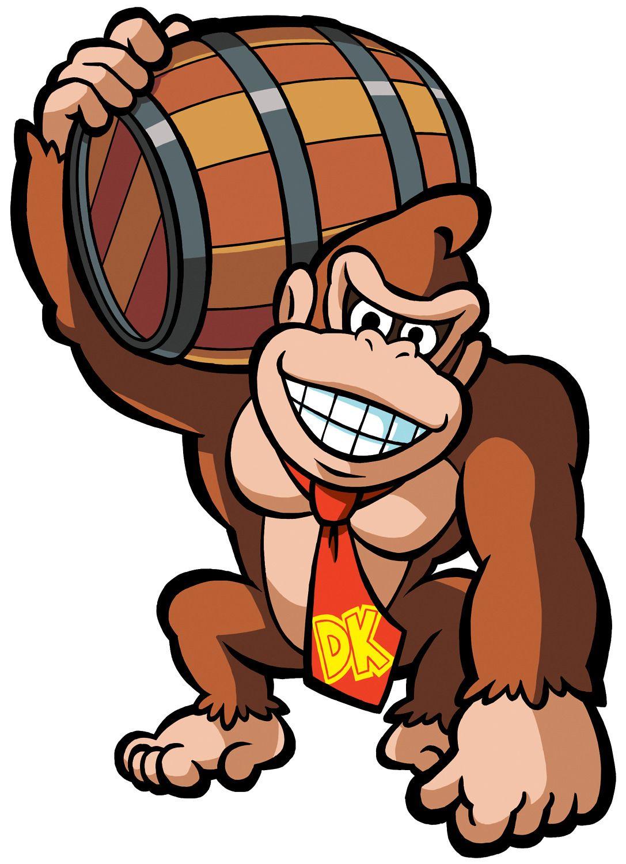 donkey kong holding barrel nintendo ref pinterest donkey and rh pinterest com King Kong Silhouette king kong clipart free