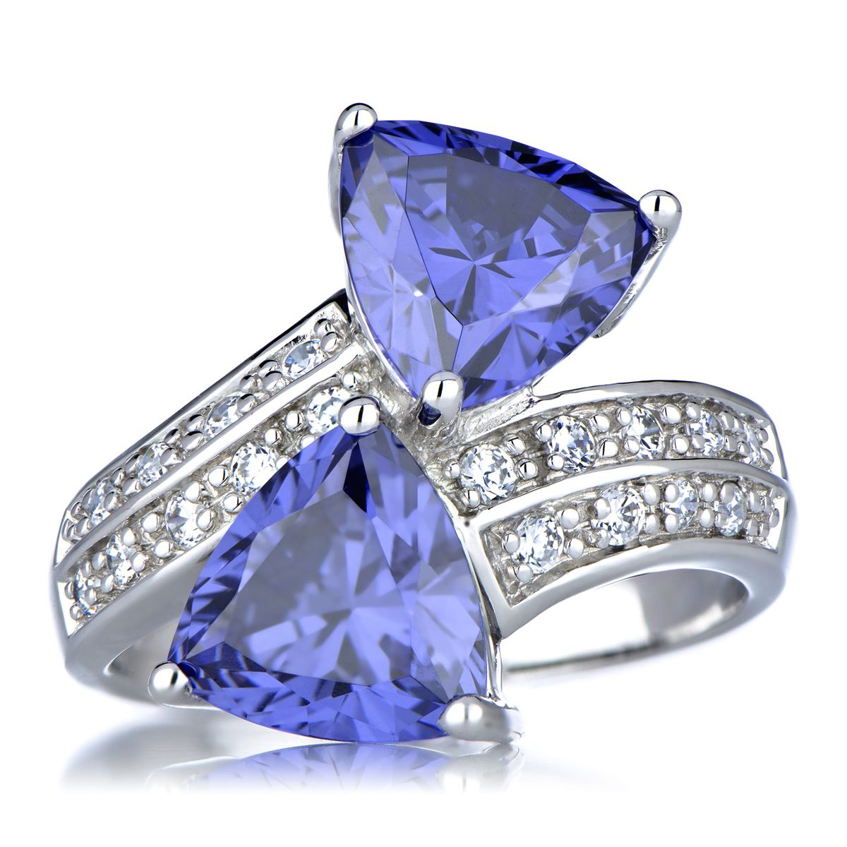 tapered yellow estate trillion baguette ctw ring tanzanite products gold cwt
