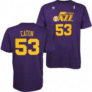 best loved 060a8 c17df Utah Jazz Adidas NBA Mark Eaton #53 Hardwood Classics Name ...