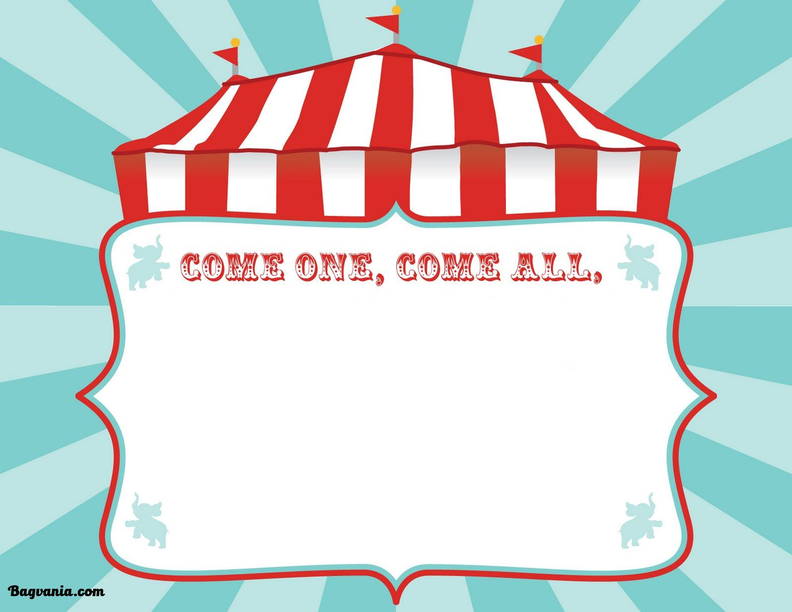Free Printable Circus Birthday Invitations Template