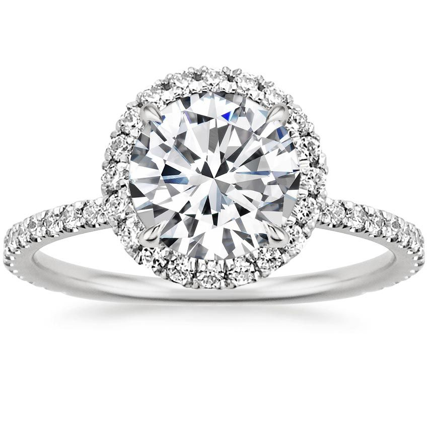 18k White Gold Waverly Diamond Ring 1 2 Ct Tw In 2020 Beautiful Engagement Rings White Gold Rings Brilliant Earth Rings