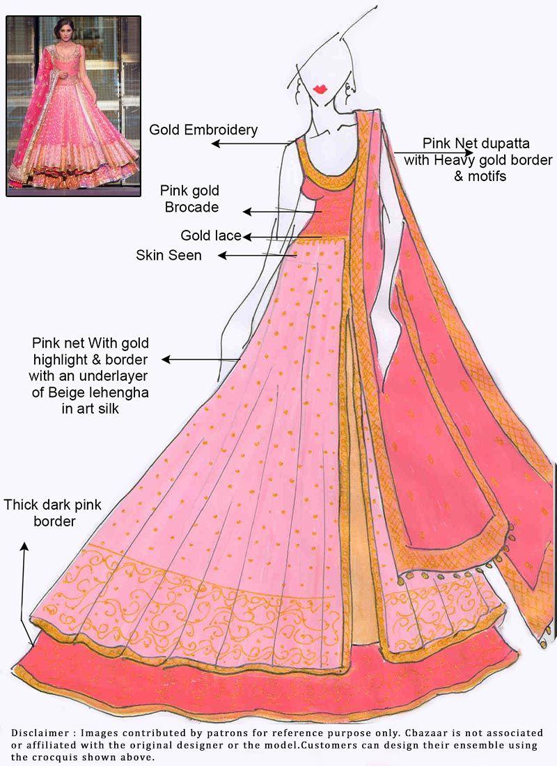 DIY Nargis Fakhri Long Choli Lehenga | FILA | Pinterest | Vestido de ...