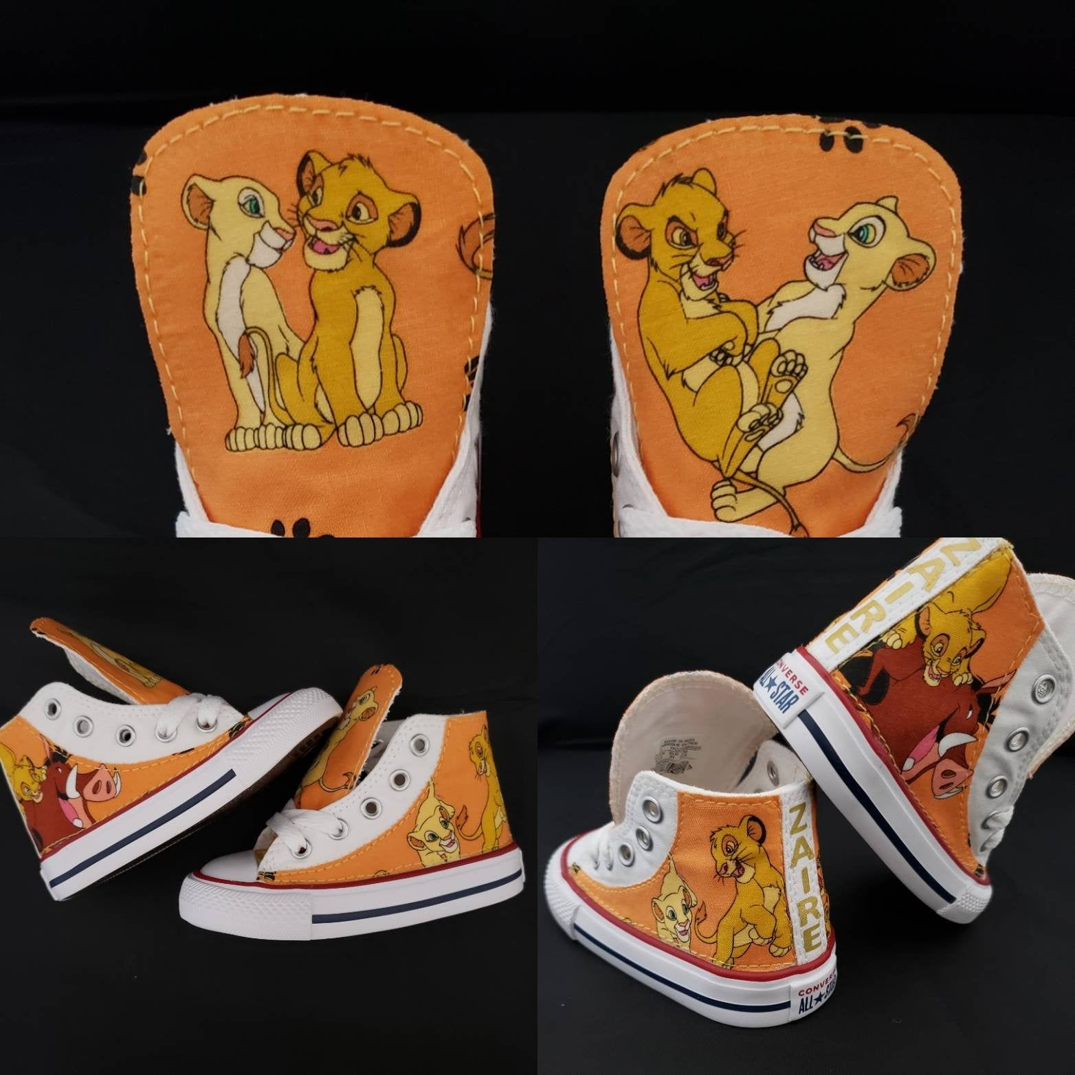 Lion king sneakers birthday custom Converse shoe featuring