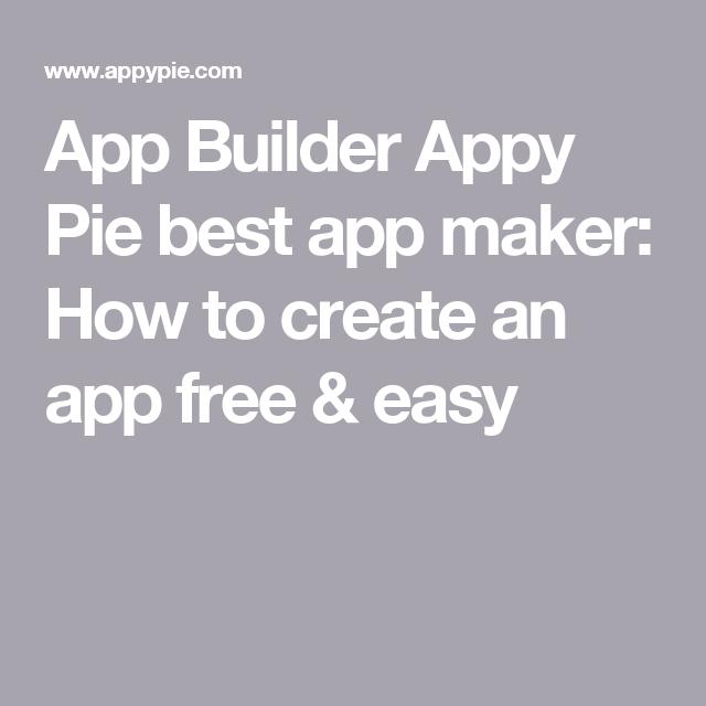 App Builder Appy Pie best app maker How to create an app
