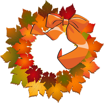 Autumn Leaves Wreath Wreath Clip Art Autumn Stickers Autumn Leaves