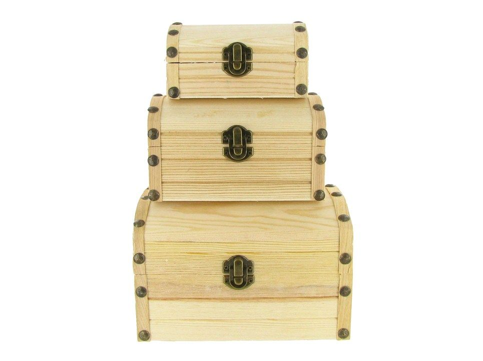 Wood Box Set With Brass Hardware Only Sold As A Set At Hobby Lobby