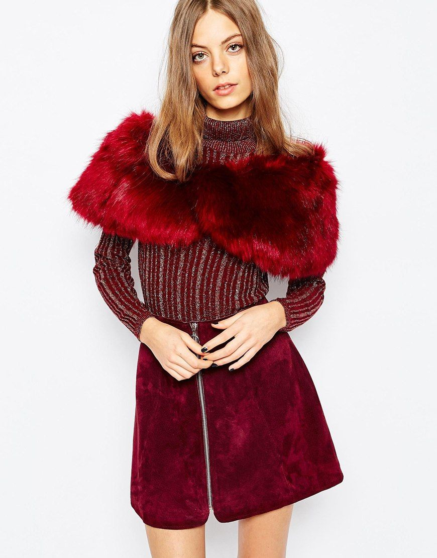 2e42f3ae818ed6 Jayley+Burgundy+Faux+Fur+Scarf | Winter Accessories | Faux fur ...