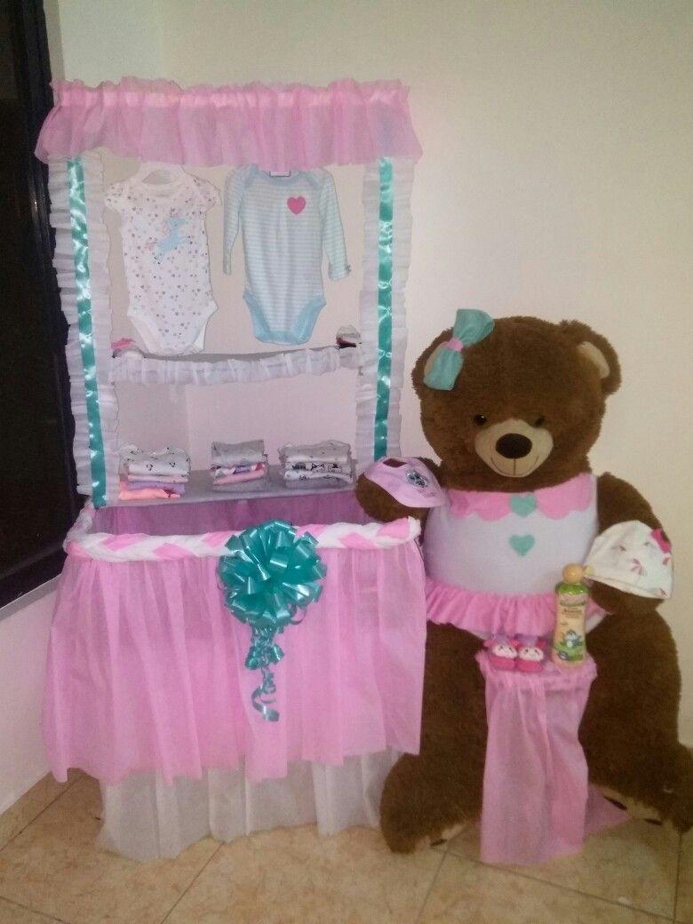 Adornos Para Mesa De Regalos De Baby Shower.Caja Para Regalos Baby Shower Decoracion Baby Shower Nina