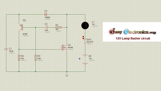 12v lamp flasher circuit description here is a simple yet powerful circuit  that can be used