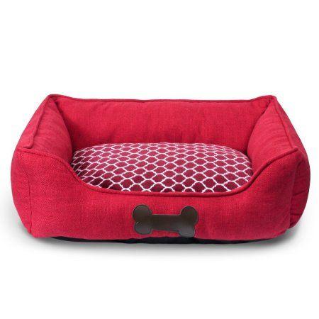 Pets Burlap Bedding Red Bedding Plush