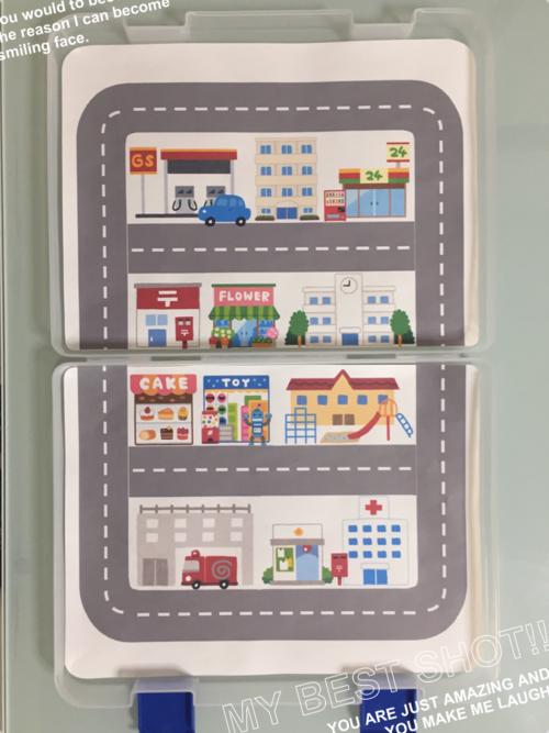 Roadmap Kids プレイマット 道路 線路 子供 トミカ プラレール トミカ 道路 道路 イラスト 手作りおもちゃ 3歳