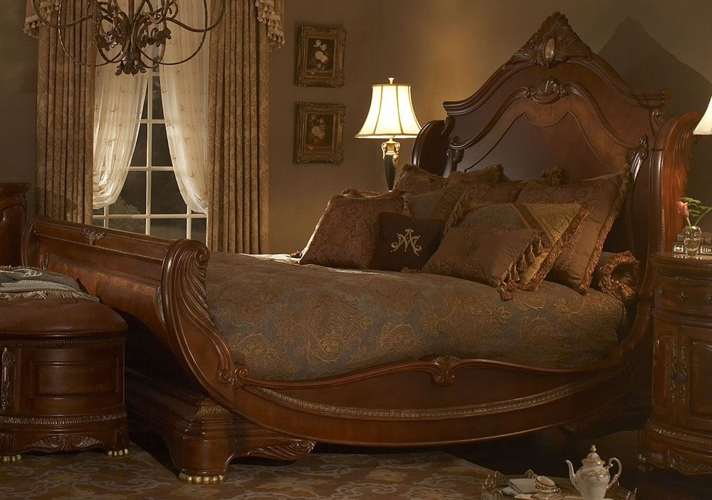 High end master bedroom furniture. Sleigh bed   Luxury ...