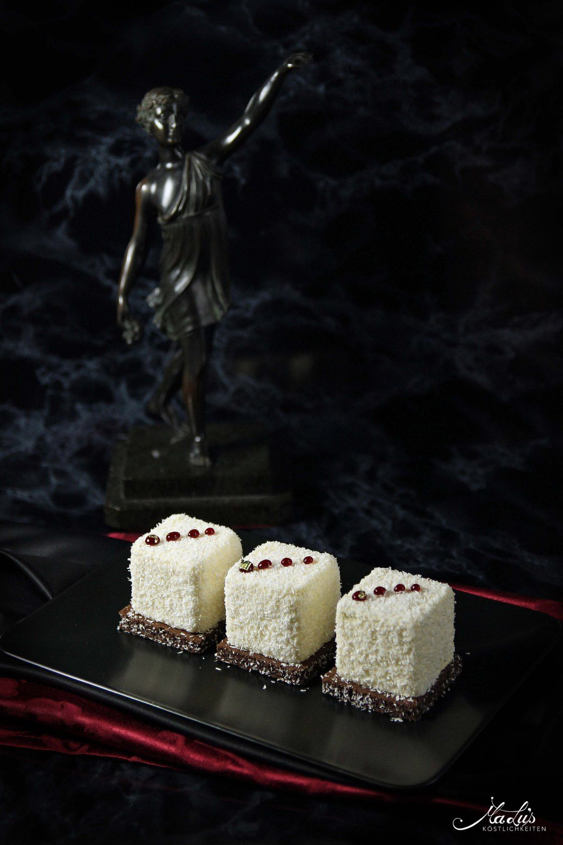Photo of Coconut tart with white chocolate, plum & Timut – Maren …