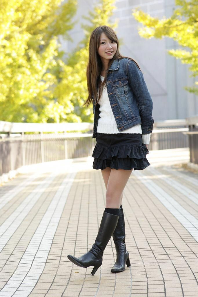 high heel boots skirt #Highheelboots | Skirts with boots