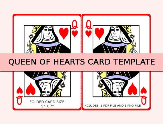Queen Of Hearts Card Heart Cards Shower Invitations Invite Templates