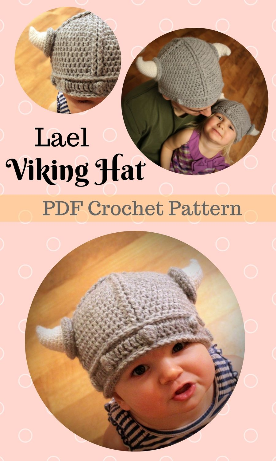 Lael Viking Hat Crochet Pattern. Cute and easy instant PDFdownload ...