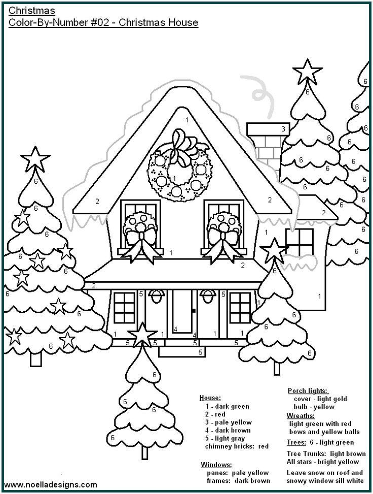 Color By Number Printable Pages For The Kiddos Description From Pinterest Com I Searched Fo Christmas Color By Number Coloring Pages Christmas Coloring Pages