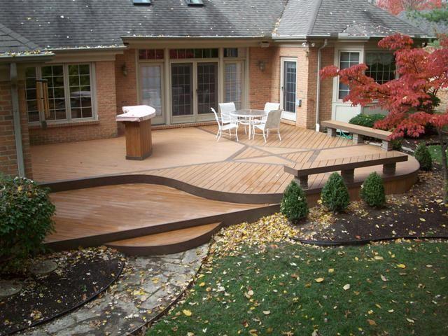 Contemporary Deck Hardscape Backyard Floating Deck Plans Floating Deck