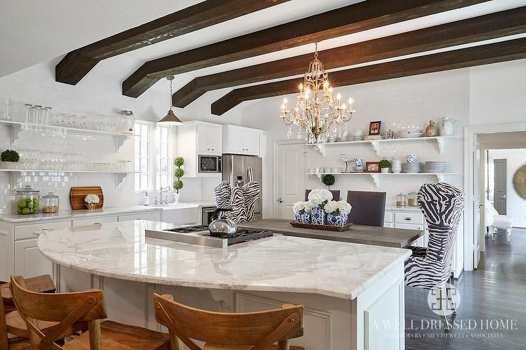 Calacatta Borghini Marble Countertops Transitional Kitchen Home Kitchens Modern Kitchen Design Living Room Kitchen