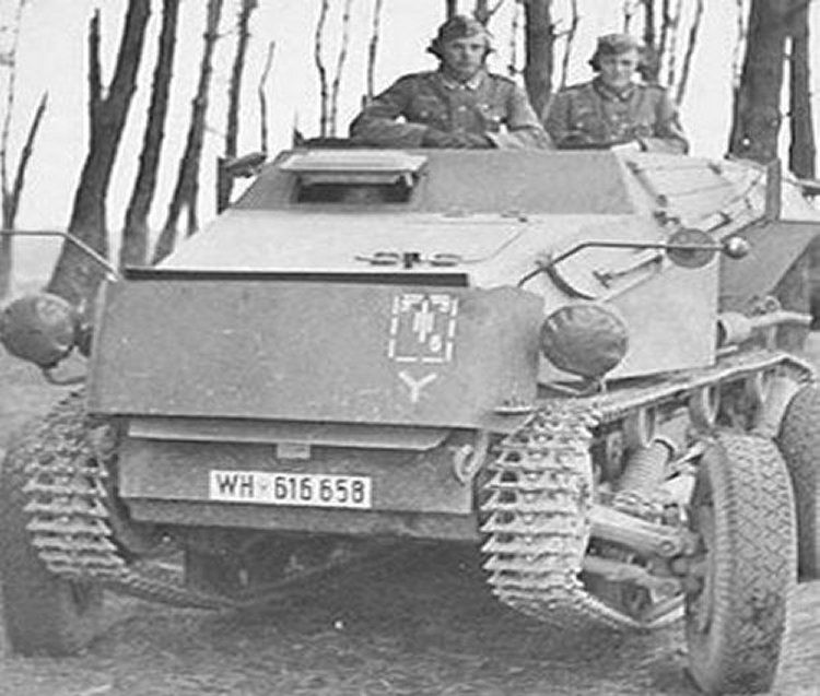 Sd.Kfz. 254 Mittlere Gepanzerte Beobachtungskraftwagen. This small, light armored, fully tracked vehicle was used by the Wehrmacht as an artillery observation vehicle. The wheels could be lowered for travel on roads. 140 were produced, and it saw service in North Africa.
