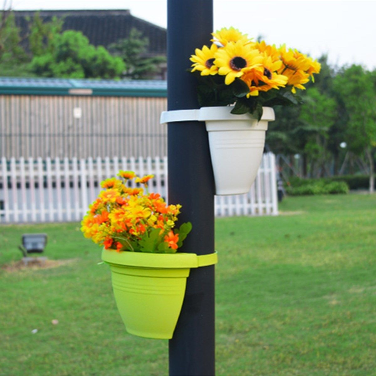 garden decoration nursery pot pipe plant balcony flower home tub basket drain pin planter pots hanging