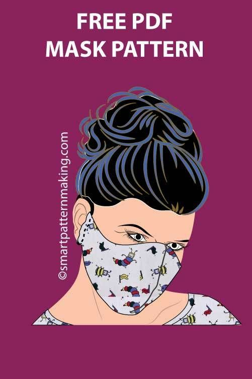 Photo of Free PDF Fabric Face Mask Pattern Download