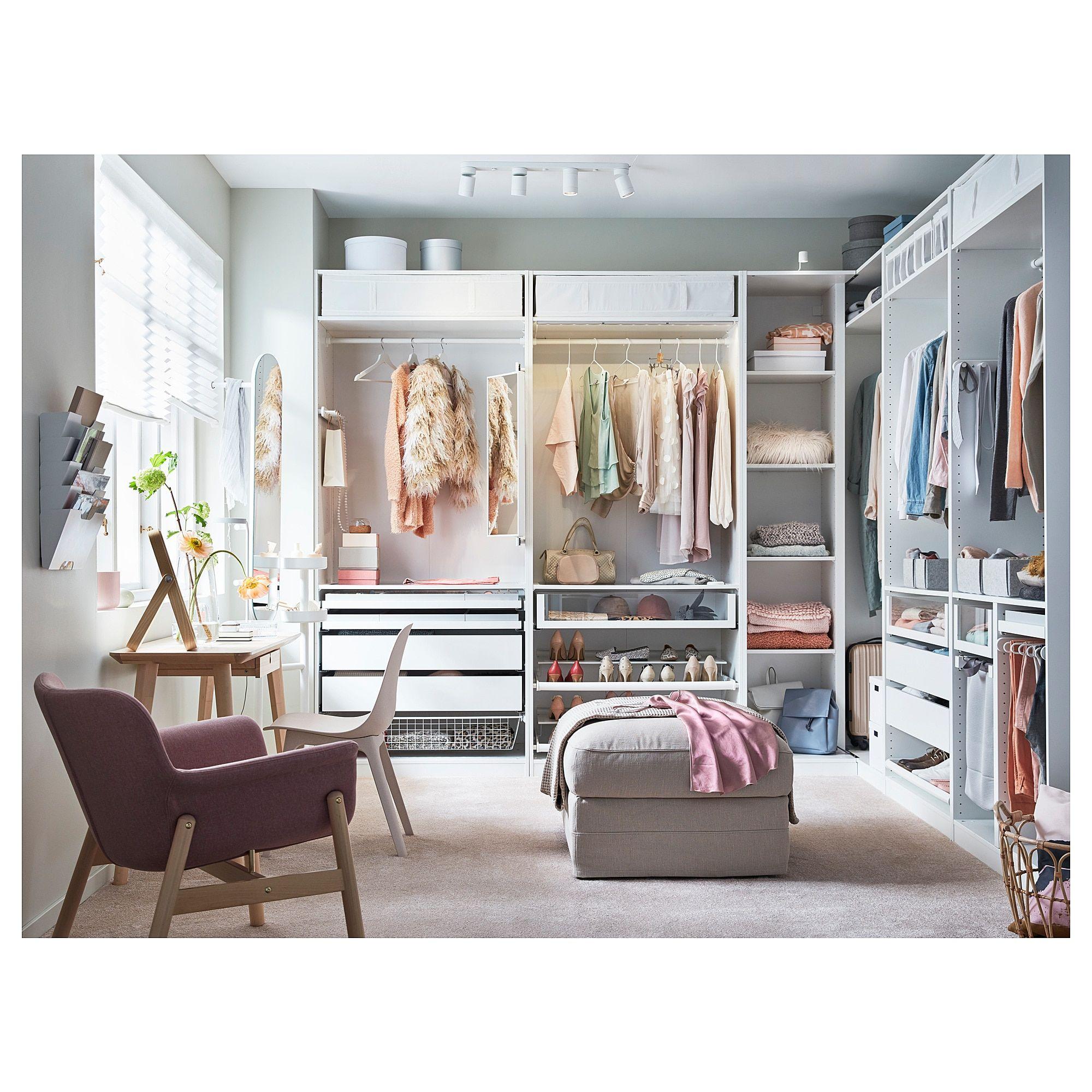 Ikea Master Bedroom: PAX Corner Wardrobe - White