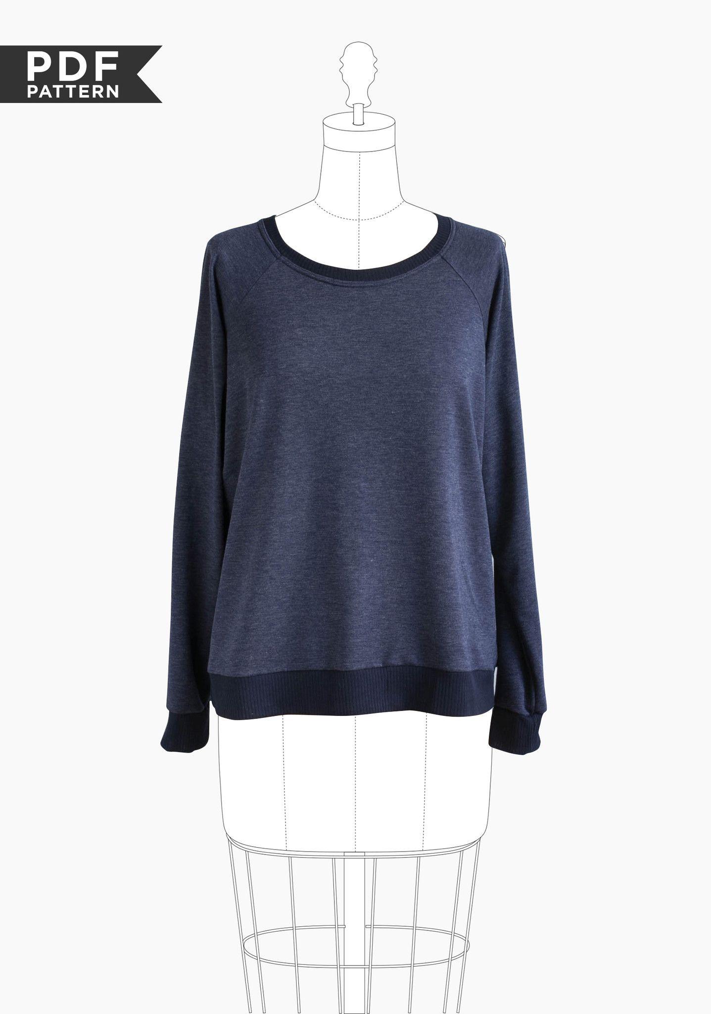 klassisches raglan sweatshirt mit b ndchen l ssig zu stylen schnittmuster linden von. Black Bedroom Furniture Sets. Home Design Ideas