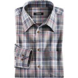 Photo of Camisa de lazer dos homens Walbusch Conforto Fit colarinho Walbusch Walbusch xadrez verde