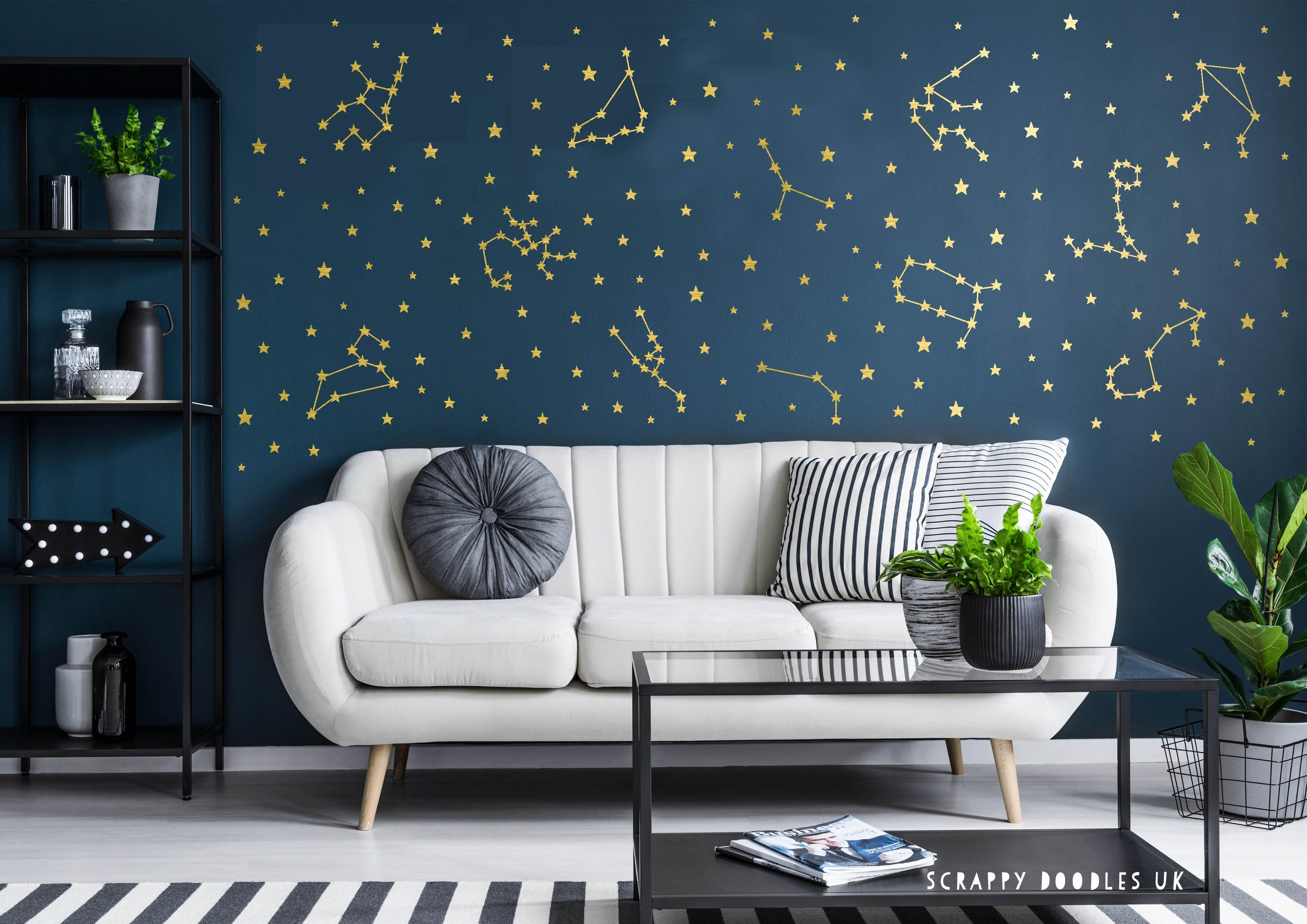 Star Constellation Wall Decal Vinyl Stickers Colour Options Available Easy Application In 2020 Theme Room Decor Space Themed Room Constellation Wall Decal