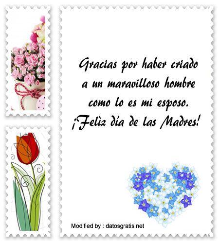 Bonitos Mensajes Por El Dia De La Madre Para Mi Suegra Dia De