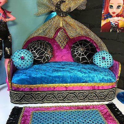pinkrosemh couch m bel set f r barbie haus monster high. Black Bedroom Furniture Sets. Home Design Ideas