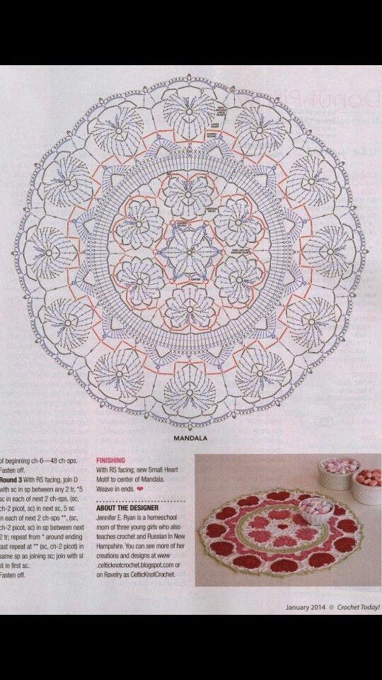 Crochet doily chart pattern …   Crochet   Pinte…