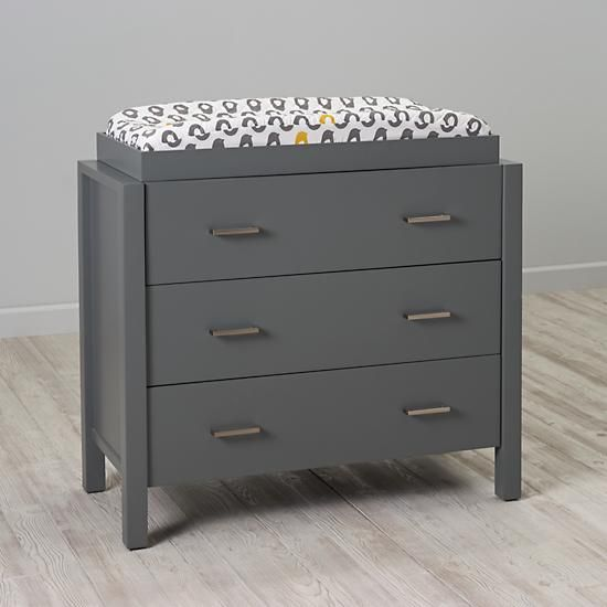 Awesome Uptown 3 Drawer Changing Table (Grey)