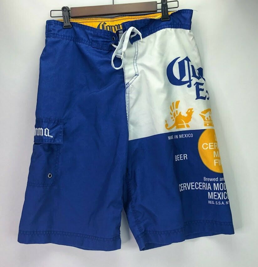 44a3bfbd96 Official Corona Men's Beach Pool Vacation Shorts Swim Trunks Large #fashion  #clothing #shoes