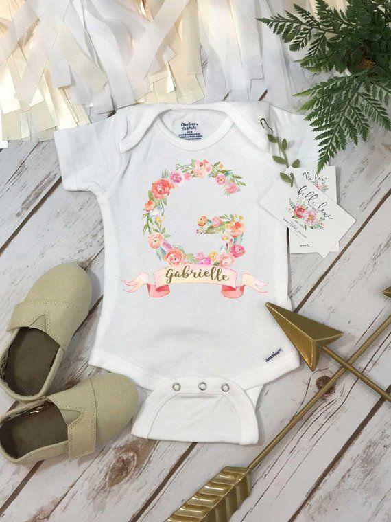 Personalized Baby OnesieR Custom Name Onesie Shower Gift