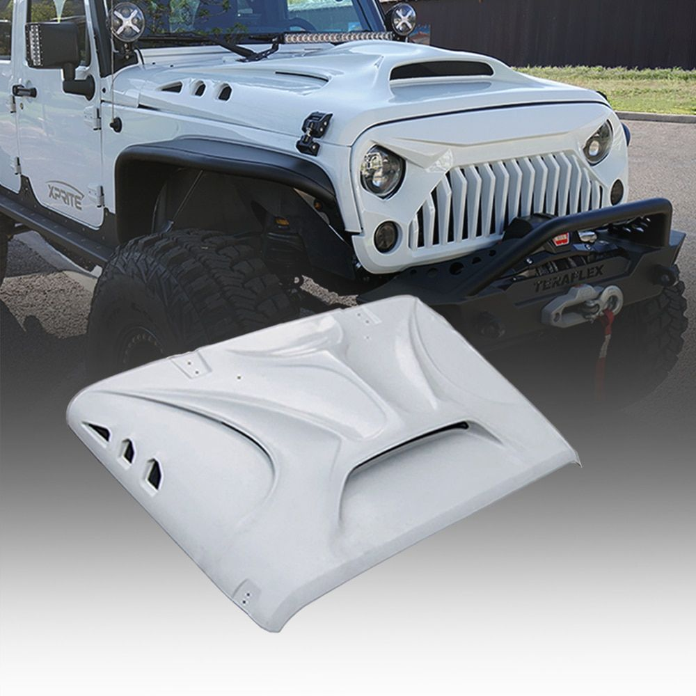 Xprite Beast Monster Fiberglass Hood With Scoop Vent Jeep Wrangler Jk 2007 2018 With Images Jeep Wrangler Accessories Jeep Wrangler Jk Jeep Wrangler