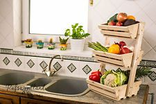 3 tier Wooden Vegetable fruit food ...