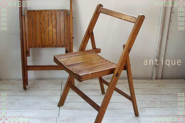 Touche | Rakuten Global Market: Antique Wooden Folding Chair 4
