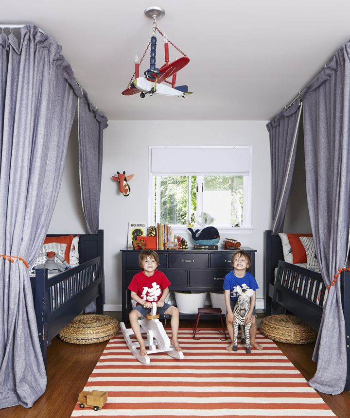 Kids Shared Room Decorating Ideas: A Playful, Budget Hand-me-down Bedroom For Twins + Shop