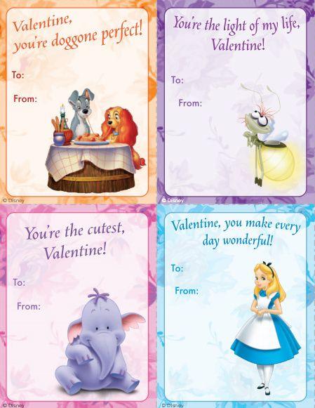 FREE Disney Printable Classroom Valentines Day Cards Disney – Classroom Valentines Day Cards