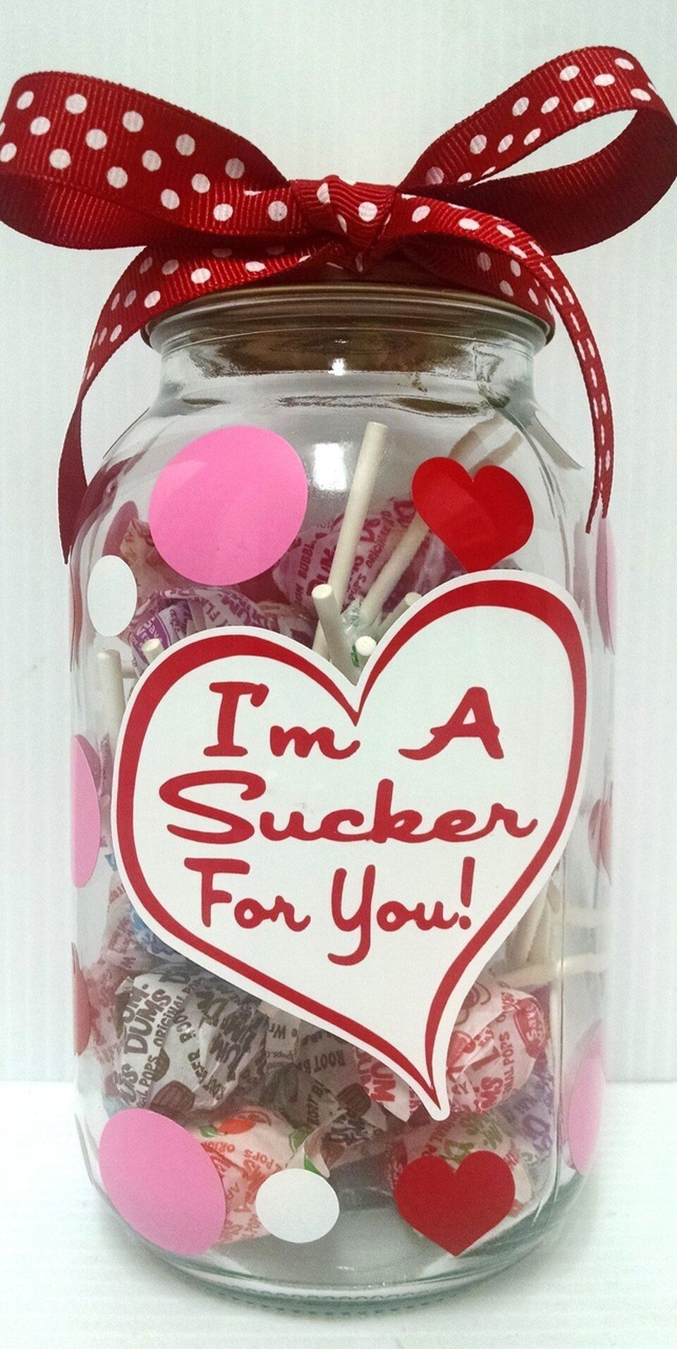 "Photo of ""I'm A Sucker For You!"" Mason Candy Jar-#candy #Jar #mason #sucker #Candy #Jar"