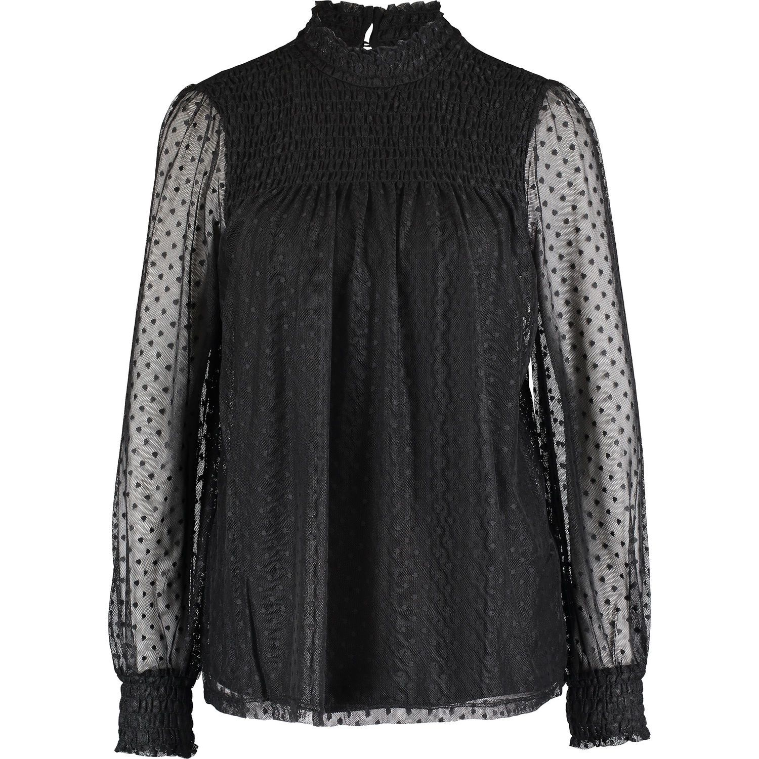 2623665bf85 Black Smock Mesh Top - Clothing - Partywear - Occasionwear - Women - TK Maxx